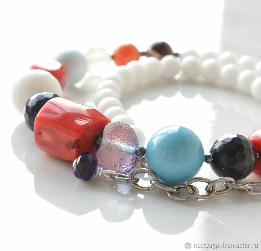 38b00d0c5be98 Children's Jewelry handmade. Livemaster - handmade. Buy Baby beads of  Marine style 2.