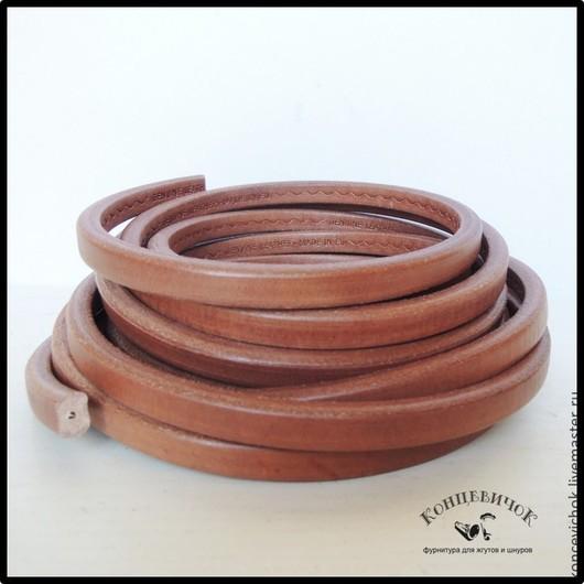 Для украшений ручной работы. Ярмарка Мастеров - ручная работа. Купить Светло-коричневый шнур регализ с отверстием. Испания. Handmade.