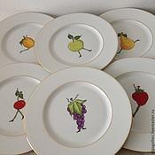 """Посуда ручной работы. Ярмарка Мастеров - ручная работа Тарелка """"Веселые фрукты"""". Handmade."""
