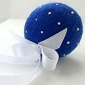 Подарки к праздникам ручной работы. Ярмарка Мастеров - ручная работа Новогодние шарики из шерсти, украшение на елку. Handmade.