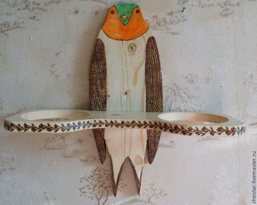 Мебель ручной работы. Ярмарка Мастеров - ручная работа. Купить Полка для цветов Птица. Handmade. Полка, сосна