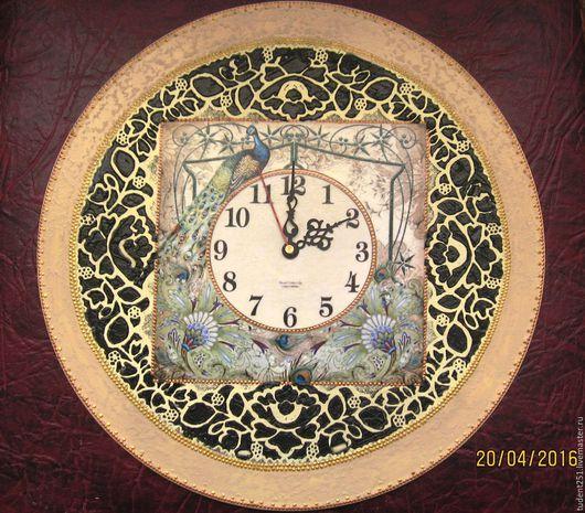 Часы для дома ручной работы. Ярмарка Мастеров - ручная работа. Купить Настенные часы. Handmade. Часы настенные, комбинированный