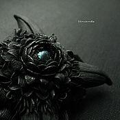 """Украшения handmade. Livemaster - original item Брошь в готическом стиле """"Цветок Ворона"""". По мотивам """"Ravenswood"""". Handmade."""