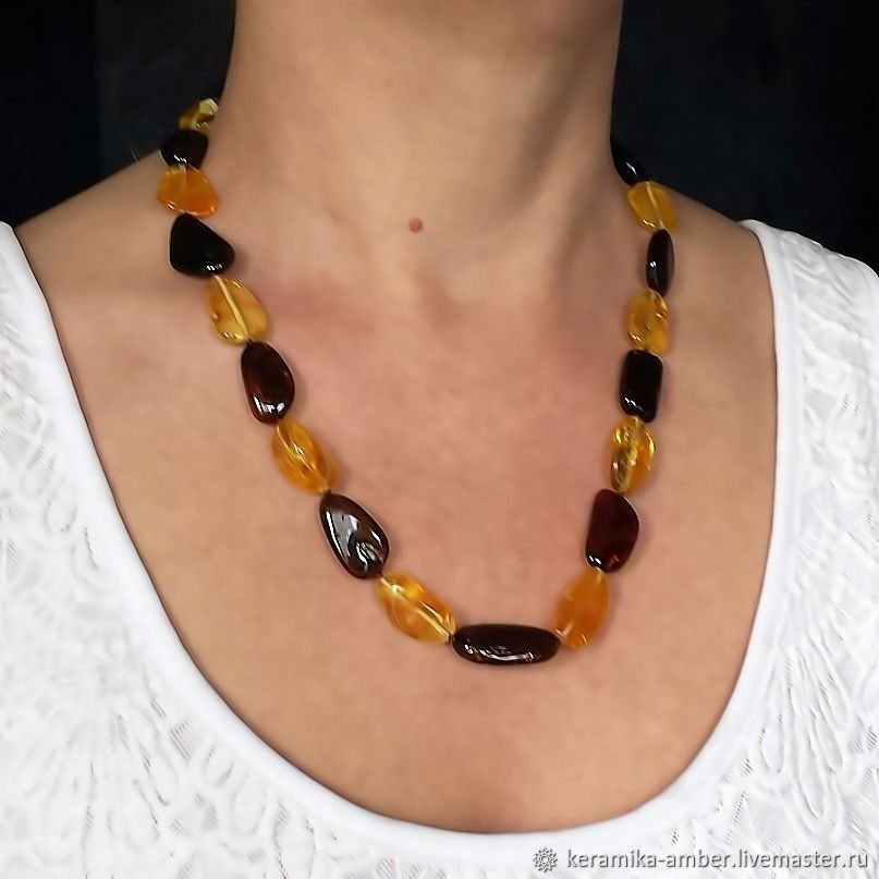 Amber Beads jewelry Gift for March 8 Mother wife, Beads2, Kaliningrad,  Фото №1