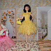 """Одежда для кукол ручной работы. Ярмарка Мастеров - ручная работа Платье """"Желтое очарование"""". Handmade."""