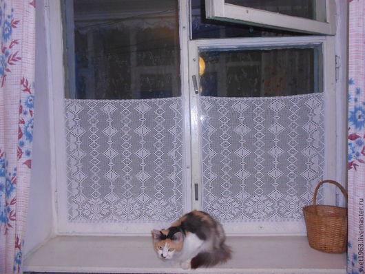 Текстиль, ковры ручной работы. Ярмарка Мастеров - ручная работа. Купить мини занавеска ажурная. Handmade. Белый, оригинальный подарок