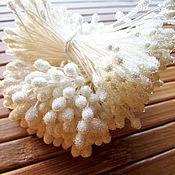 Тычинки ручной работы. Ярмарка Мастеров - ручная работа Японские сахарные тычинки белые. Handmade.