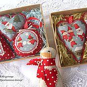 Подарки к праздникам handmade. Livemaster - original item Set (7pcs.) Christmas ornaments
