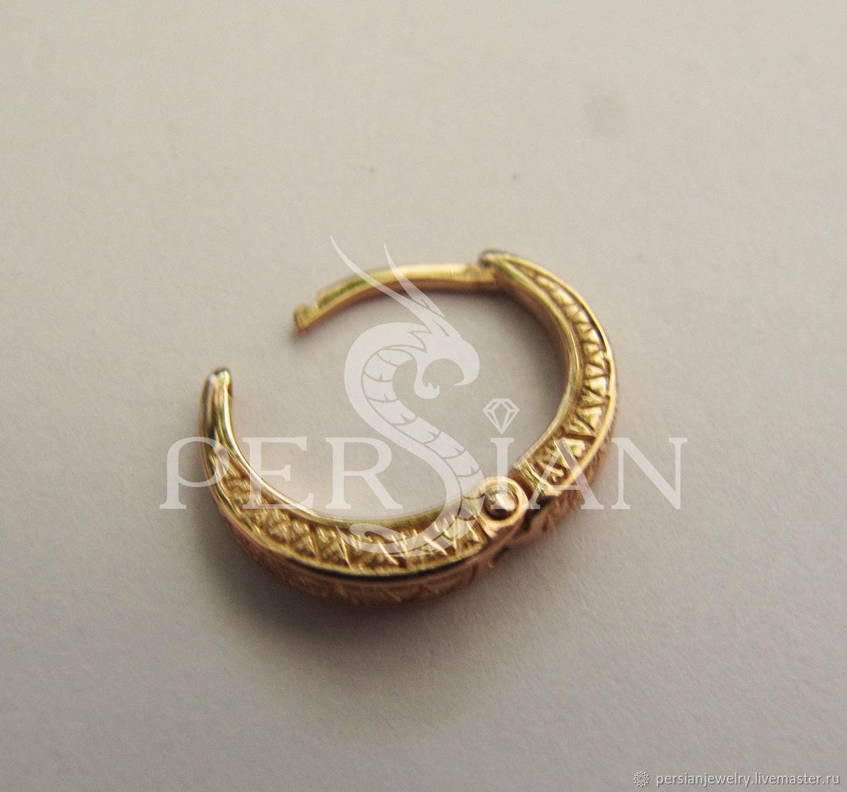 Mens gold earring, Single earring, Sevastopol,  Фото №1