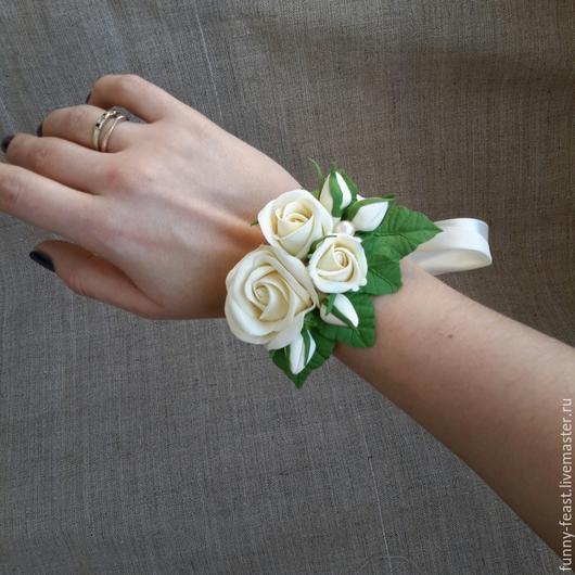 Свадебные украшения ручной работы. Ярмарка Мастеров - ручная работа. Купить браслетики для подружек невесты и не только. Handmade. Разноцветный, украшение для невесты