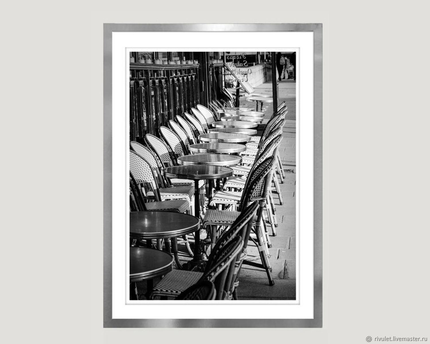 Paris cafe Photo, Paris Black and white paintings 'Waiting», Fine art photographs, Moscow,  Фото №1