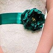 Ремни ручной работы. Ярмарка Мастеров - ручная работа Пояс для свадебного или вечернего платья. Handmade.