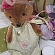 Мишки Тедди ручной работы. Малышок в ладошку Мишутка Машенька. Jingle Bears. Интернет-магазин Ярмарка Мастеров. Игрушка