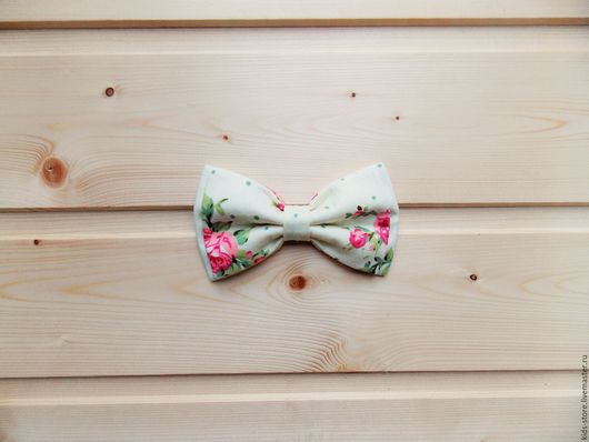 детская галстук бабочка / бабочка галстук в горошек с цветами