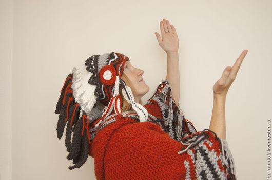 Шапки ручной работы. Ярмарка Мастеров - ручная работа. Купить шапка - индейский роуч. Handmade. Рыжий, индейский роуч