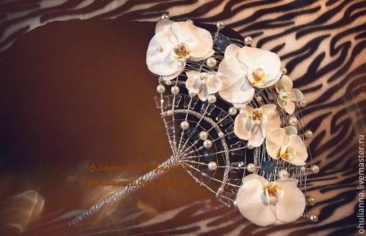 """Свадебные цветы ручной работы. Ярмарка Мастеров - ручная работа. Купить свадебный букет -веер для невесты  """"ДЖУЛИЯ"""". Handmade. Белый"""