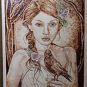 """Картины и панно ручной работы. Ярмарка Мастеров - ручная работа Картина """"Мудрость ворона"""". Handmade."""