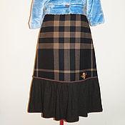Одежда ручной работы. Ярмарка Мастеров - ручная работа Юбка большой размер из теплой шерсти с начёсом. Handmade.