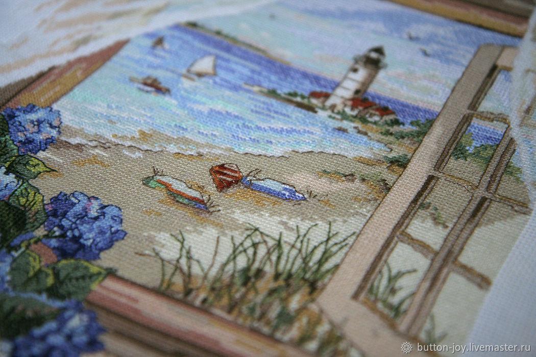 Окно к морю Картина  Вышивка крестиком, Картины, Москва,  Фото №1
