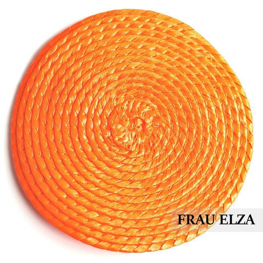 Другие виды рукоделия ручной работы. Ярмарка Мастеров - ручная работа. Купить Плетеная основа для вуалетки 11 см Оранж. Handmade.