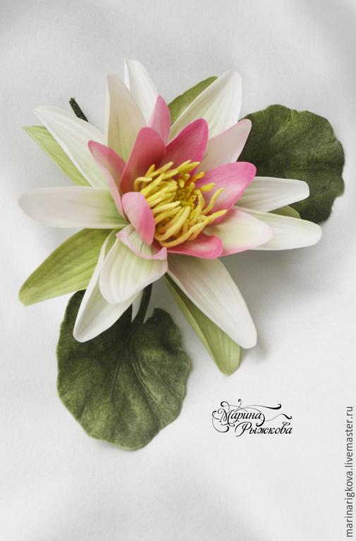"""Цветы ручной работы. Ярмарка Мастеров - ручная работа. Купить Кувшинка """"Нимфея"""". Handmade. Водяная лилия, Лилия из шелка"""