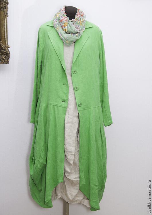 Верхняя одежда ручной работы. Ярмарка Мастеров - ручная работа. Купить Пальто  сочная  трава Эмма. Handmade. Зеленый
