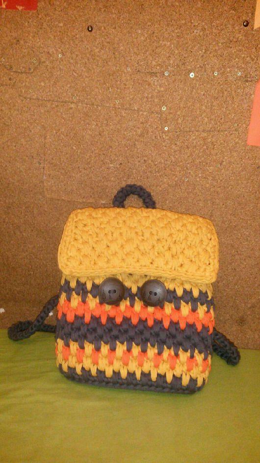 """Рюкзаки ручной работы. Ярмарка Мастеров - ручная работа. Купить Рюкзак вязаный """"Теплая Осень"""". Handmade. Рюкзак женский, рюкзачок"""
