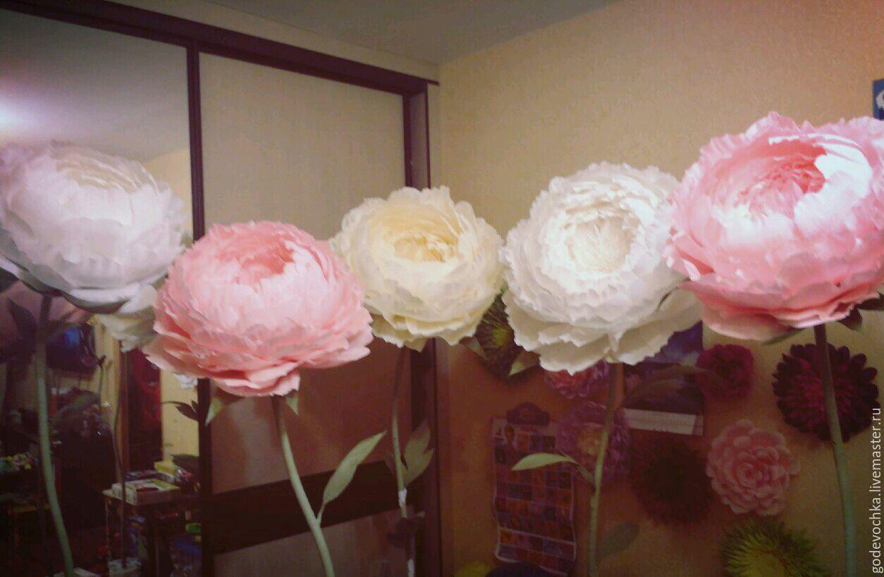 Цветы из гофрированной бумаги своими руками розы пионы