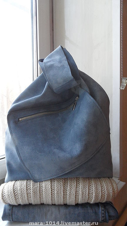 Женские сумки ручной работы. Ярмарка Мастеров - ручная работа. Купить ПАКЕТ-МАЙКА серо-голубой. Handmade. Сумка, серый