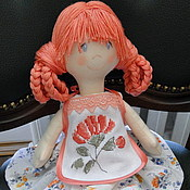 Куклы и игрушки ручной работы. Ярмарка Мастеров - ручная работа Авторская игровая текстильная кукла Алина. Handmade.