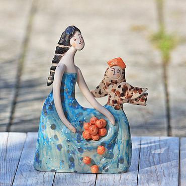 Для дома и интерьера ручной работы. Ярмарка Мастеров - ручная работа Скульптуры: Волшебная встреча. Handmade.