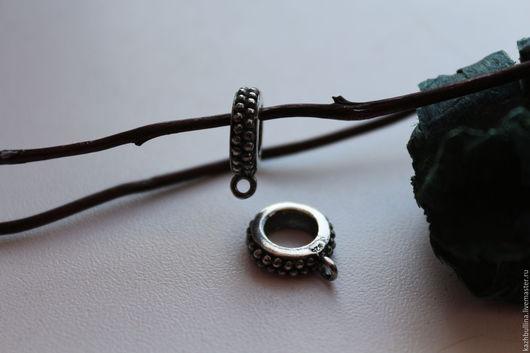 Для украшений ручной работы. Ярмарка Мастеров - ручная работа. Купить Бейлы оксидированное серебро 925 пробы. Handmade.