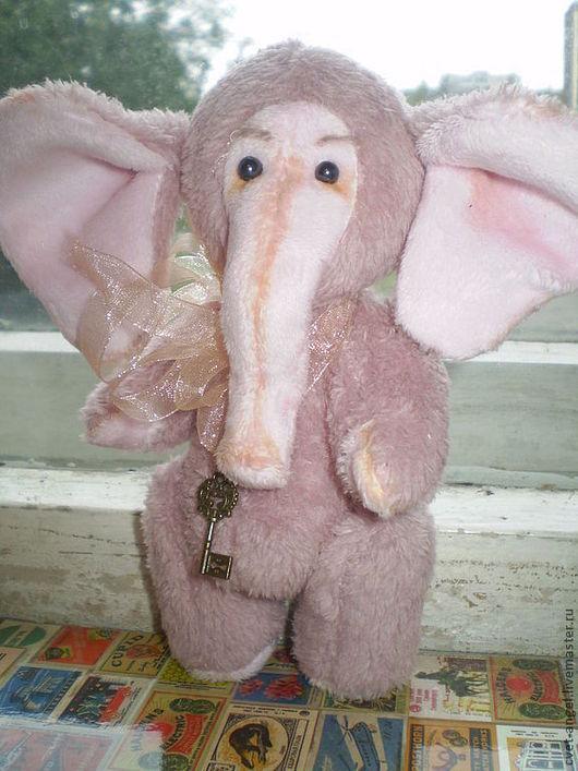 Мишки Тедди ручной работы. Ярмарка Мастеров - ручная работа. Купить слоненок Ванечка. Handmade. Розовый, друзья тедди, холлофайбер