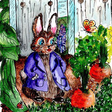 Дизайн и реклама ручной работы. Ярмарка Мастеров - ручная работа Кролик в огороде. Handmade.