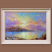 Картины и панно handmade. Livemaster - original item The picture with the mountains
