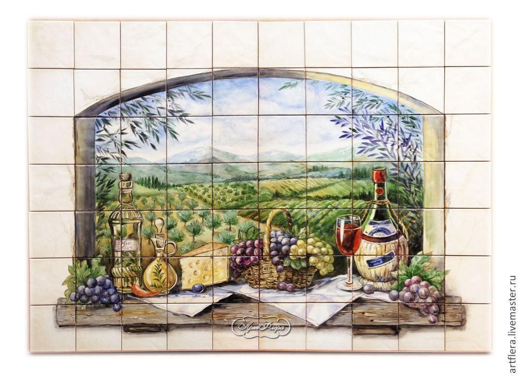 Painted tiles Apron for kitchen 'Tuscany. Chianti', Aprons, Kazan,  Фото №1