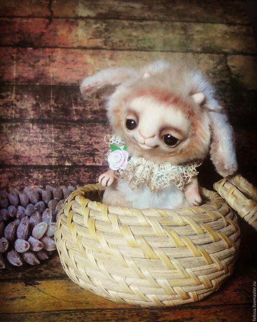 Мишки Тедди ручной работы. Ярмарка Мастеров - ручная работа. Купить Малышка козочка. Handmade. Бежевый, тедди