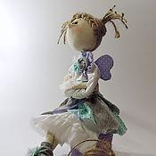 Куклы и игрушки ручной работы. Ярмарка Мастеров - ручная работа Озорная феечка. Интерьерная текстильная кукла, тыквоголовка.. Handmade.