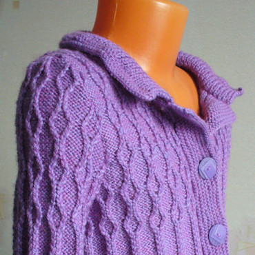 Одежда ручной работы. Ярмарка Мастеров - ручная работа Жакет вязаный. Handmade.