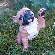 Куклы и игрушки handmade. Livemaster - original item French bulldog figurine 24 cm. Handmade.