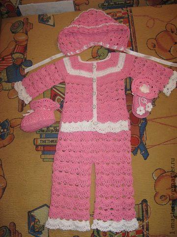 Для новорожденных, ручной работы. Ярмарка Мастеров - ручная работа. Купить Комплект для малышки. Handmade. Розовый, кофта