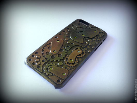 Для телефонов ручной работы. Ярмарка Мастеров - ручная работа. Купить Стимпанк чехол для iPhone 6 №3. Handmade. Телефон