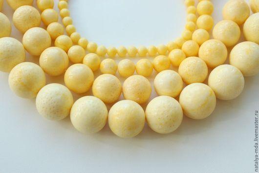Для украшений ручной работы. Ярмарка Мастеров - ручная работа. Купить Коралл губчатый желтый. Handmade. Лимонный, бусины для украшений