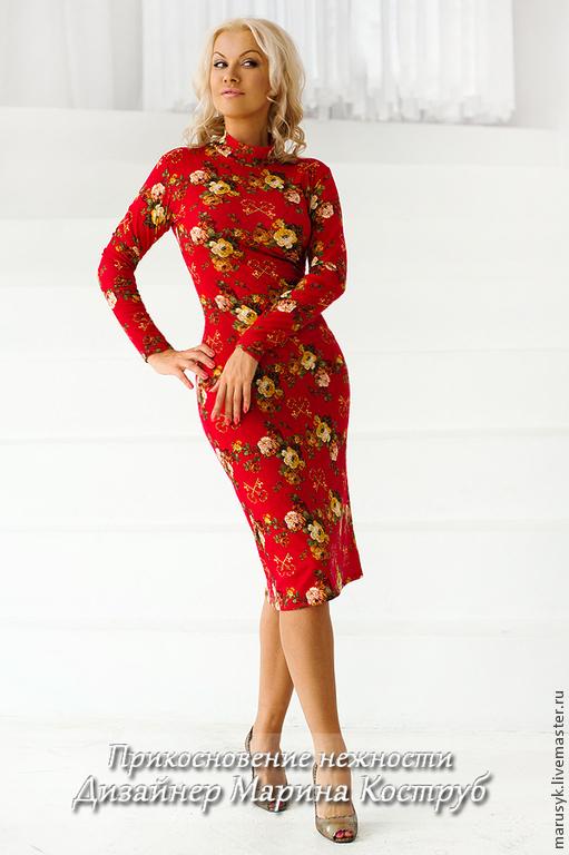 Платья ручной работы. Ярмарка Мастеров - ручная работа. Купить платье ПН-16. Handmade. Бордовый, платье вечернее
