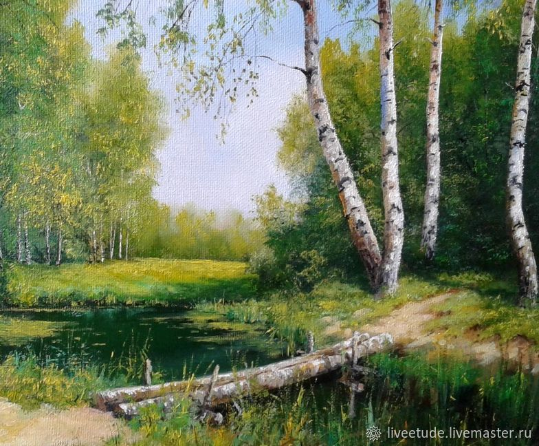 Oil painting Paysagee Vladimir Chernov, Pictures, Stary Oskol,  Фото №1