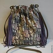 Классическая сумка ручной работы. Ярмарка Мастеров - ручная работа Кисет с лиловыми кистями. Handmade.