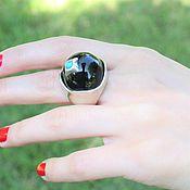 Украшения handmade. Livemaster - original item Ring with black enamel and turquoise made of 925 SER0007 silver. Handmade.
