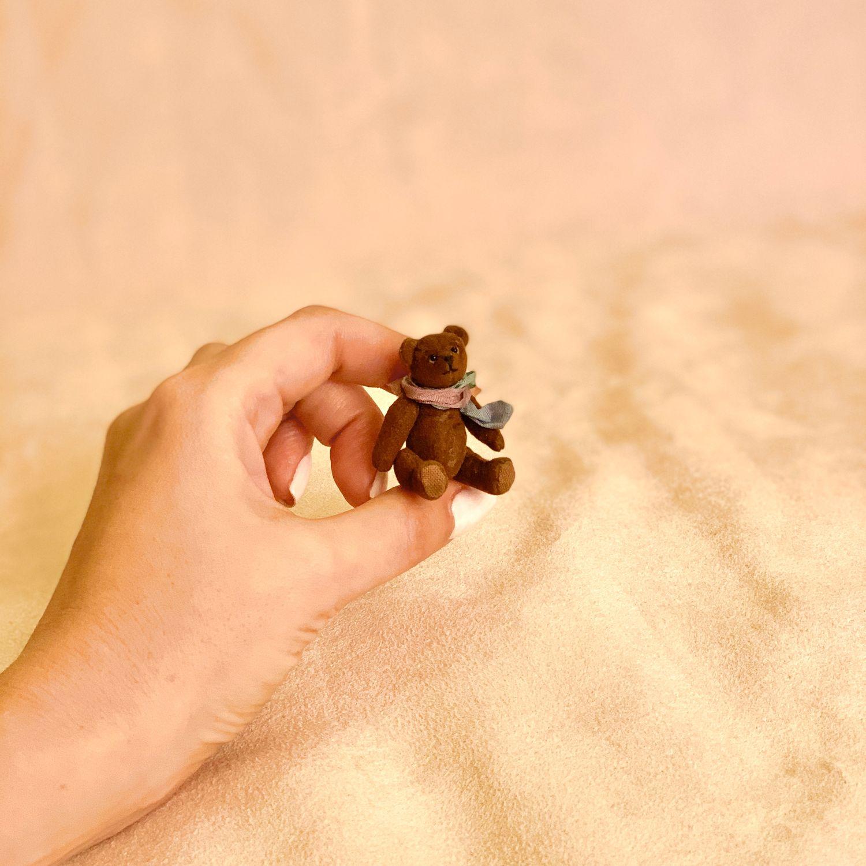 Микро мишка тедди  Энди (4,9см), Мишки Тедди, Москва,  Фото №1
