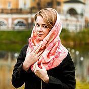 """Аксессуары ручной работы. Ярмарка Мастеров - ручная работа шарф-снуд валяный """"Розовое облако"""". Handmade."""
