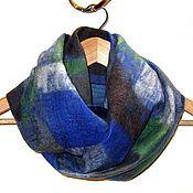 """Аксессуары ручной работы. Ярмарка Мастеров - ручная работа Снуд мужской валяный шарф унисекс """"Color blok2"""" мужской войлочный шарф. Handmade."""